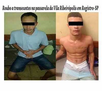 POLÍCIA MILITAR DE REGISTRO-SP PRENDE DOIS HOMENS APÓS PRATICAREM ROUBOS E ATIRAREM NA VÍTIMA