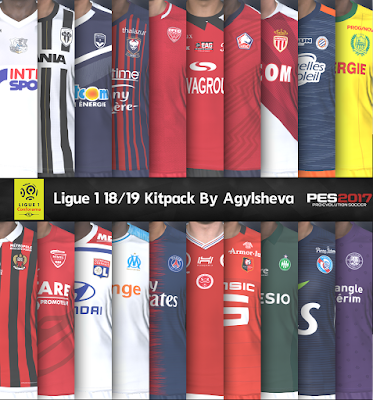 PES 2017 Ligue 1 Kitpack by Agylsheva Season 2018/2019