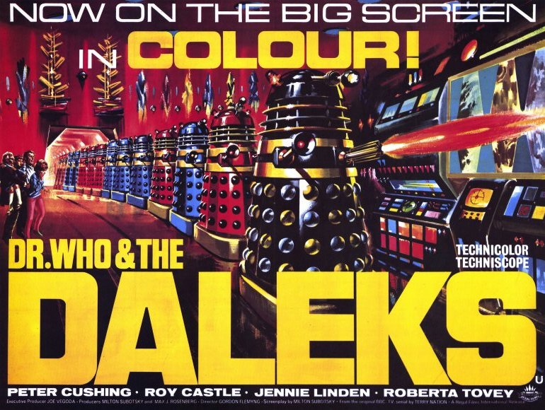 Dr Who and the Daleks movie poster