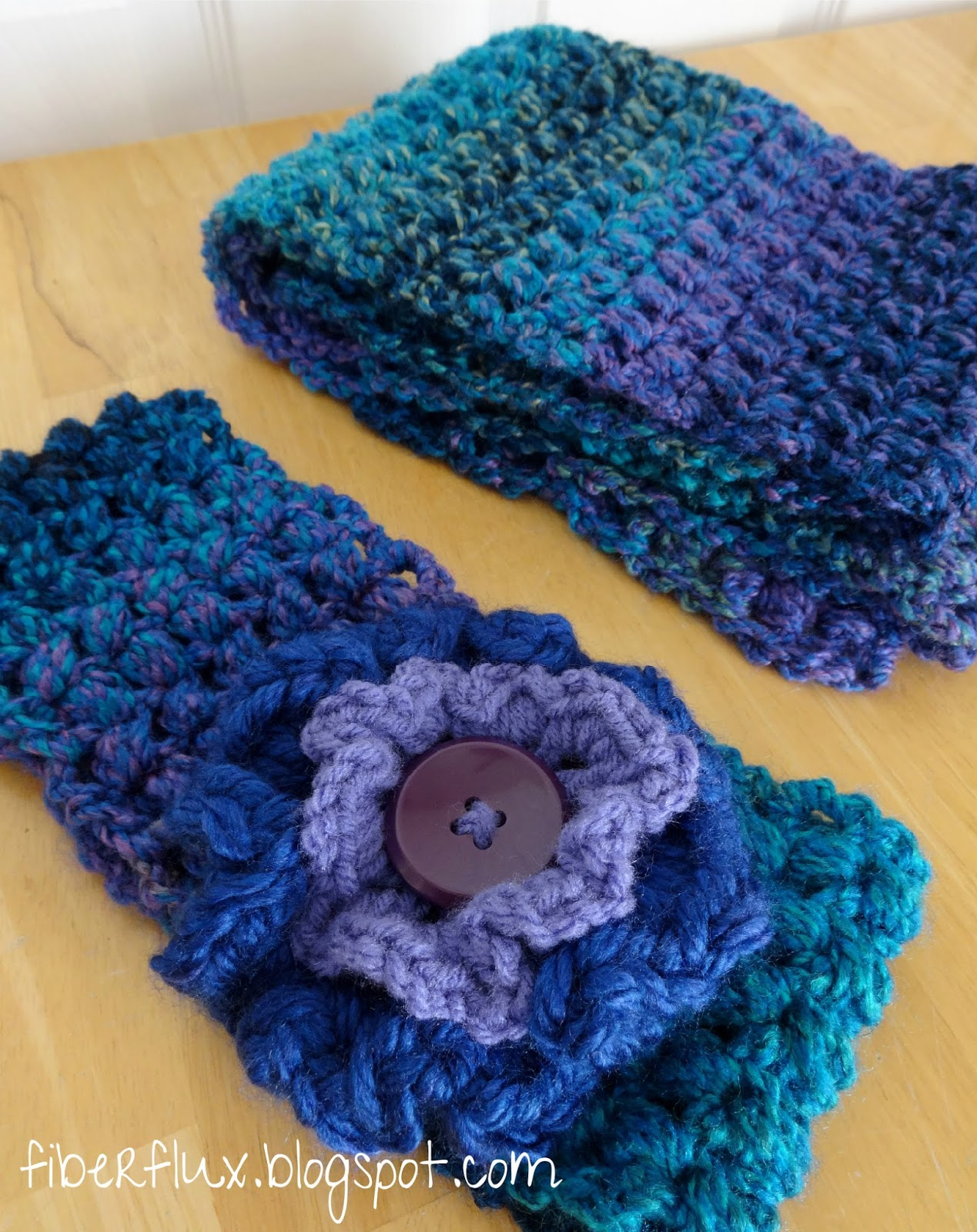 Fiber Flux: Free Crochet Pattern...Tweedy Puff Stitch Ear Warmer!
