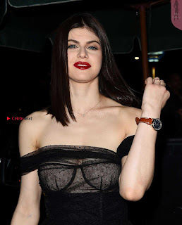 Alexandra Daddario Showing off her  in transparent top at Dior Addict Lacquer Pump Launch ~ Celebs.in Exclusive 012.jpg