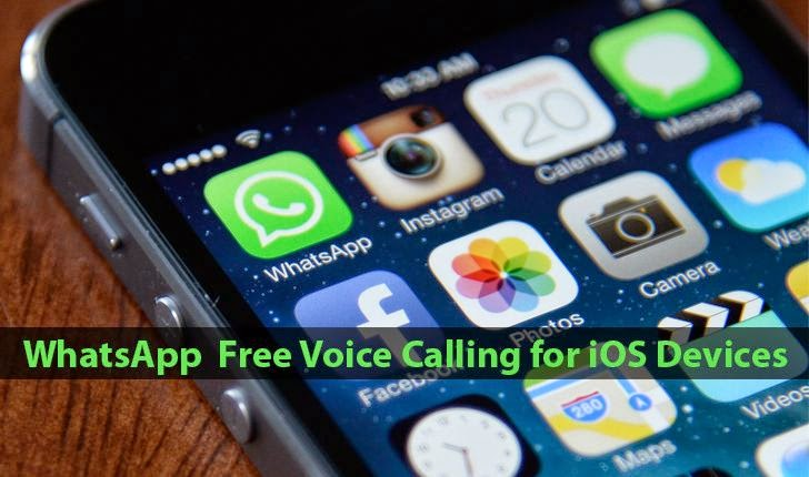 WhatsApp updates iOS App with Free Voice Calling Feature