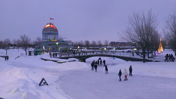 Ice skating in Montréal, Canada