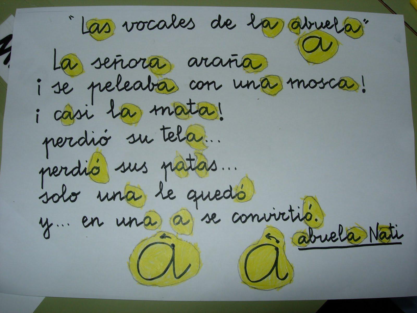 Poesia De Las Vocales: Arias Montano Infantil: VOCAL A (minúscula