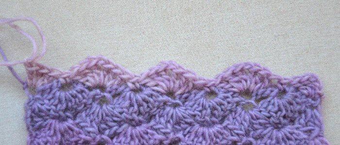 Chrissie Crafts Shell Stitch Scarf