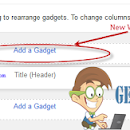Add a New Element in Blogger Header