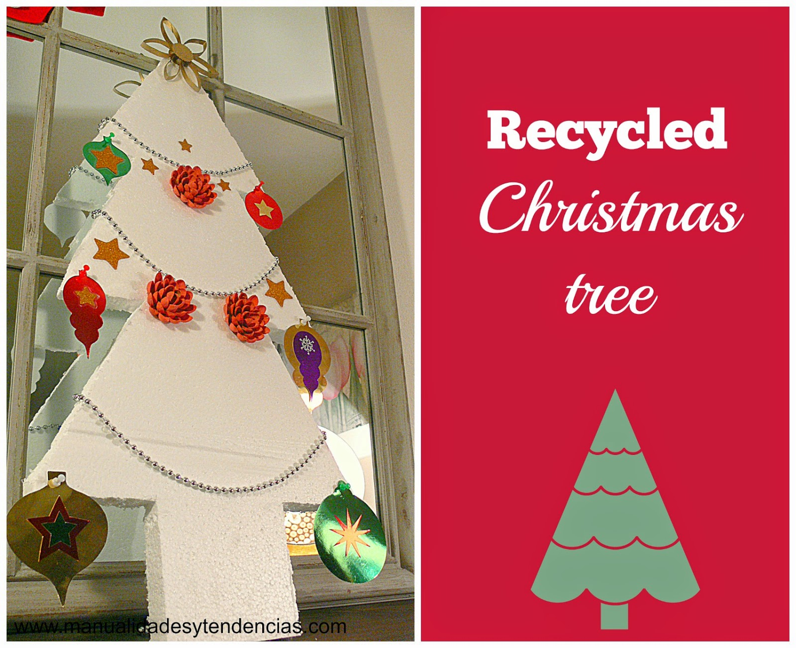 Recycled Styrofoam Christmas tree