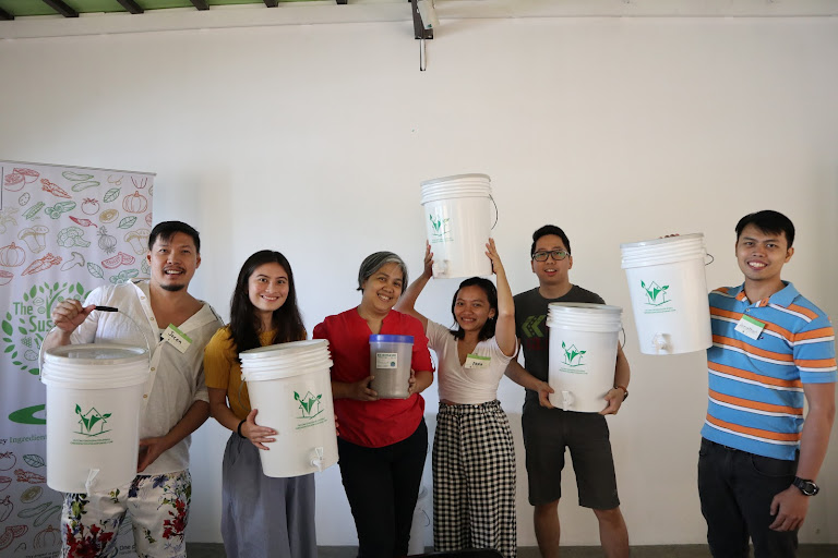 Winners of the bokashi composting kits - Savour Planet Initiative