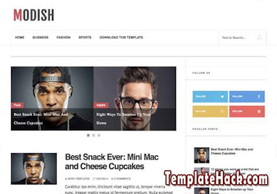 modish blogger template