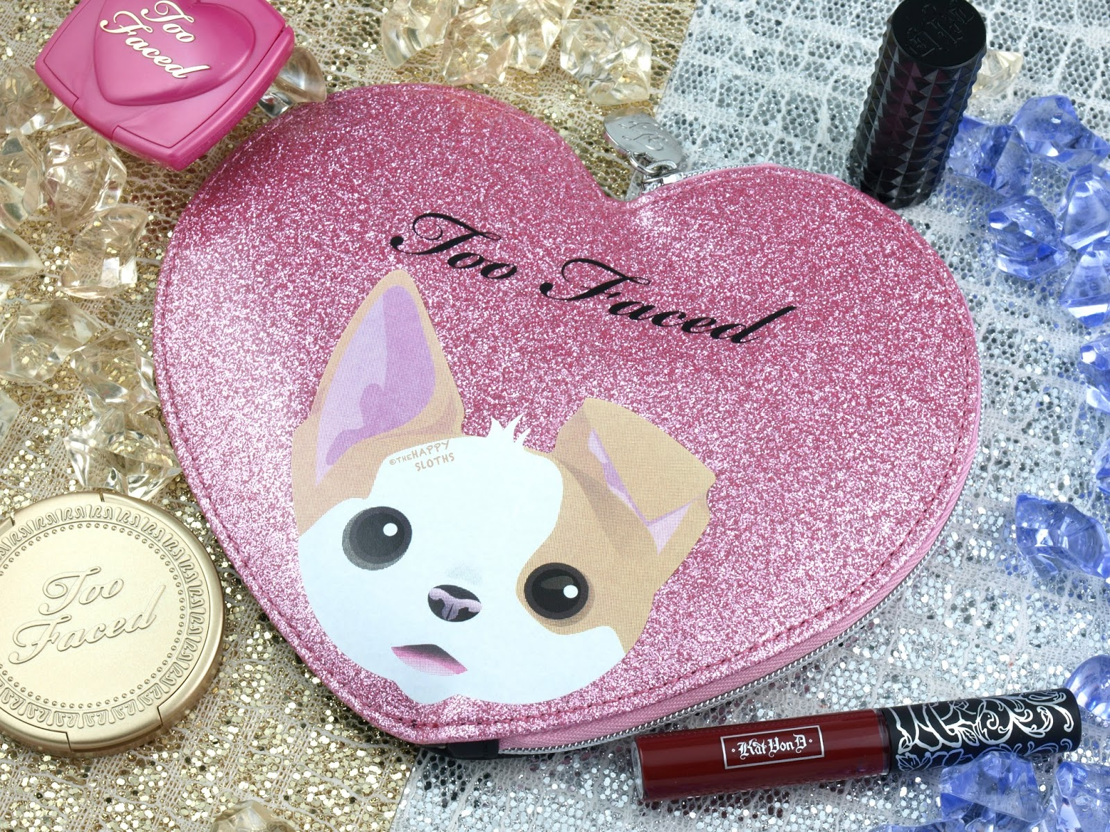 Too Faced x Kat Von D Cheek & Lip Makeup Bag Set: Review and Swatches