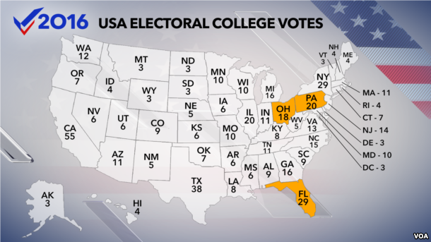 Us Electoral Map 1824. Representatives By State On Map, 2008 ...