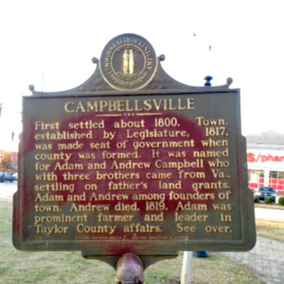 Taylor County Campbellsville Kentucky Historical Marker