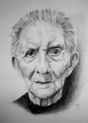 Retrato a lápiz.