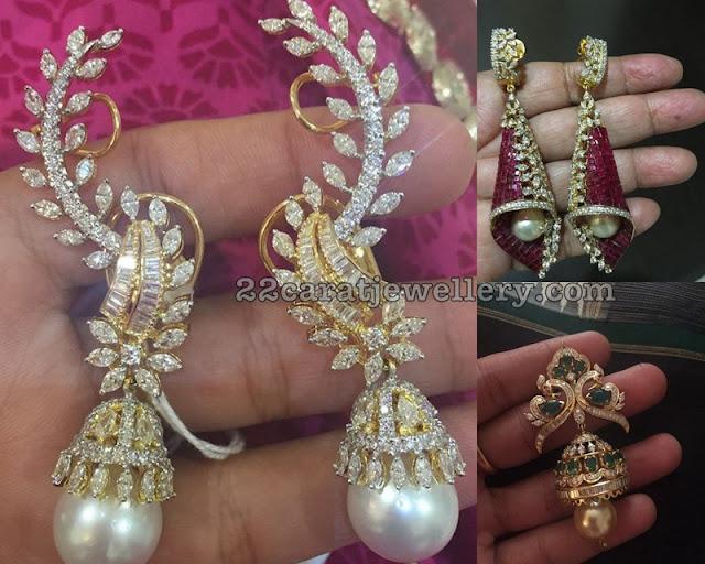 Trendy Diamond Drops Earrings