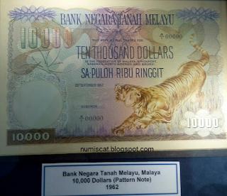 10 Ribu Dollar, Bank Negara Tanah Melayu - Pattern Note