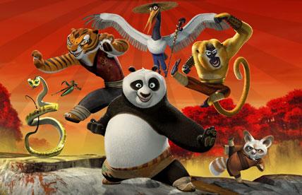 main characters of Kung Fu Panda 2 animatedfilmreviews.filminspector.com