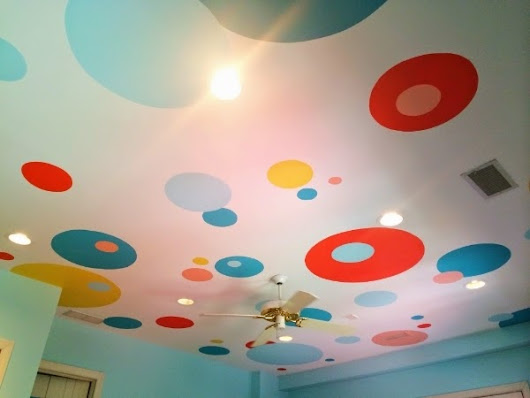 saint rooster: polka dot ceiling
