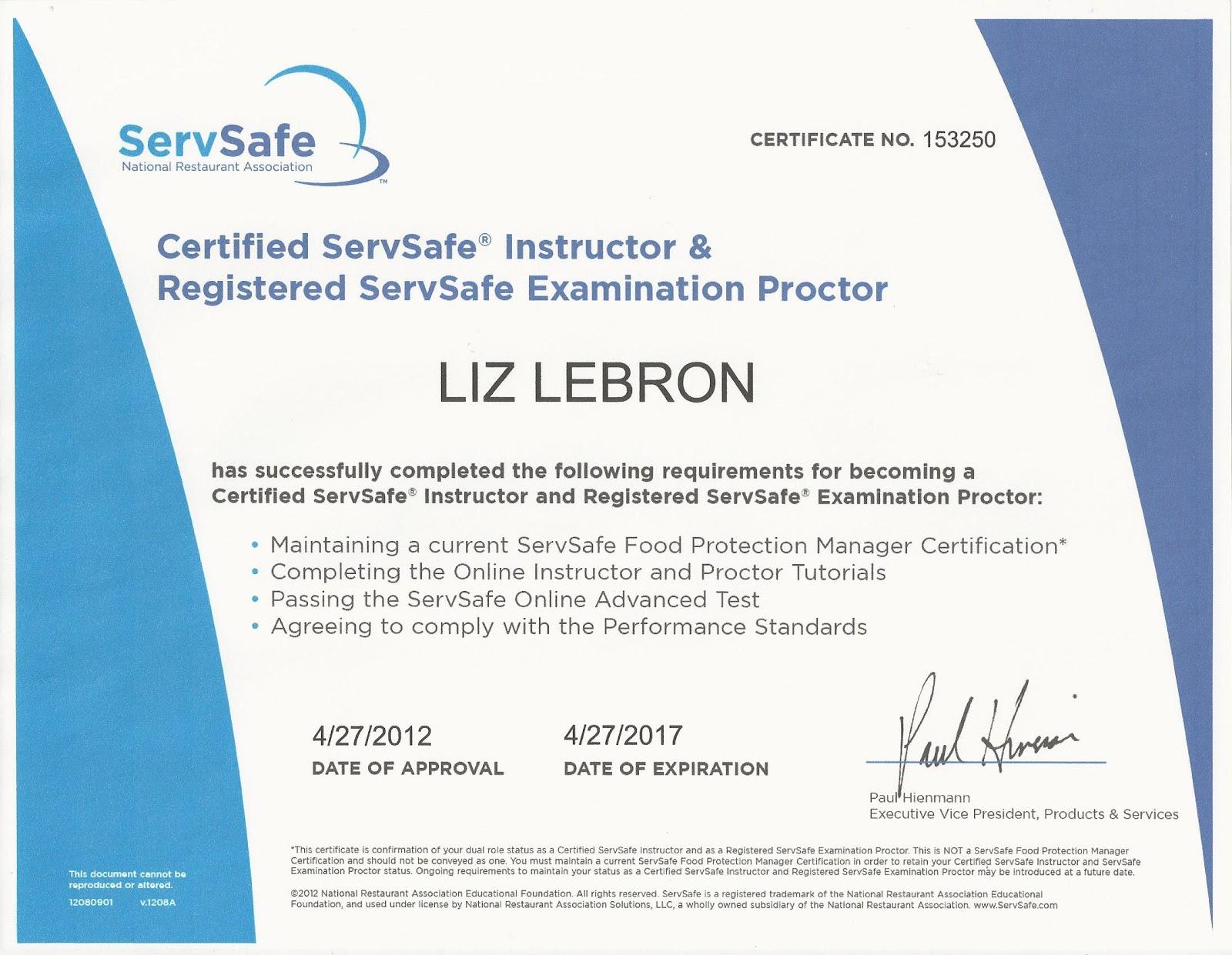 Servsafe Certification Tampa | TUTORE.ORG - Master of ...