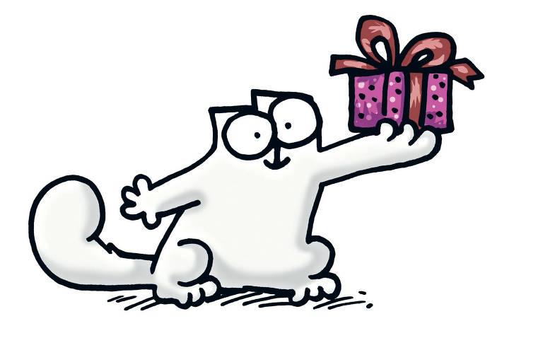 Саймон кот открытка, живую открытку добрым