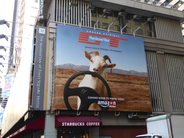 Grand Tour series goat billboard NYC