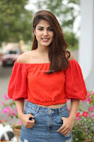 Rhea Chakraborty in Red Crop Top and Denim Shorts Spicy Pics ~  Exclusive 155.JPG