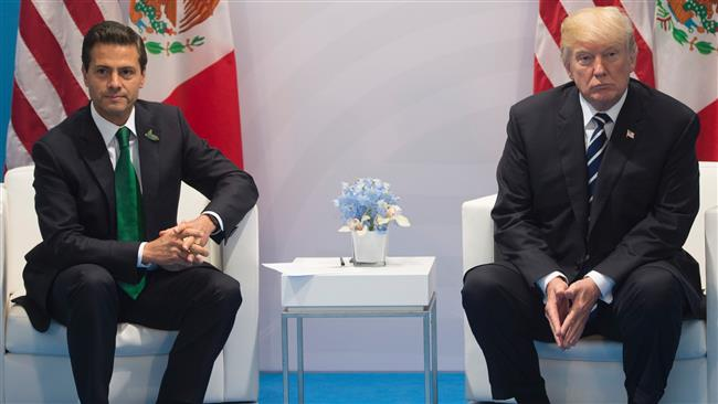 Mexican President Enrique Pena Nieto denies calling US President Donald Trump to praise border policy