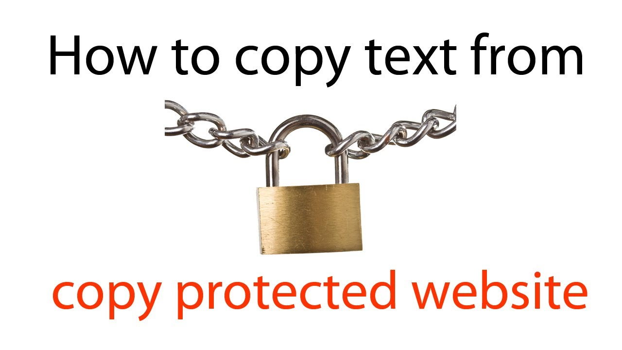 How to copy protected text