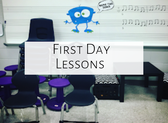 First Day Music Lessons {BTS Blog Hop}