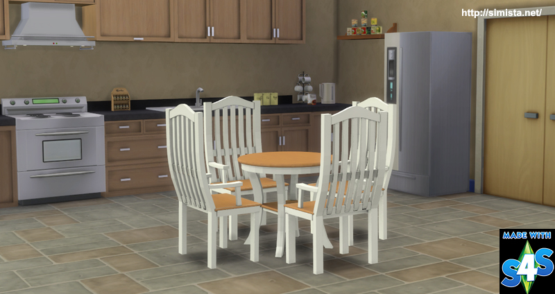 Brenna Dinging Table And Chairs Simista A Little Sims 4 Blog