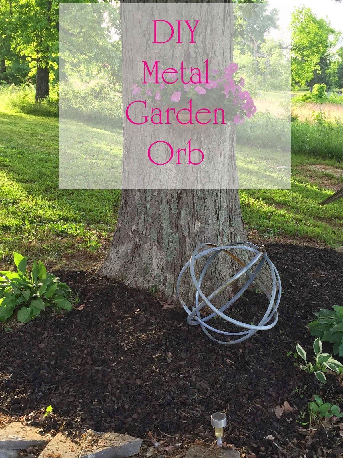 Repurpose Steel Drum Rings Into Garden Orbs