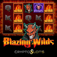 Try the New 'Blazing Wilds' Slot at CryptoSlots.com — 45% Bonuses Now Available