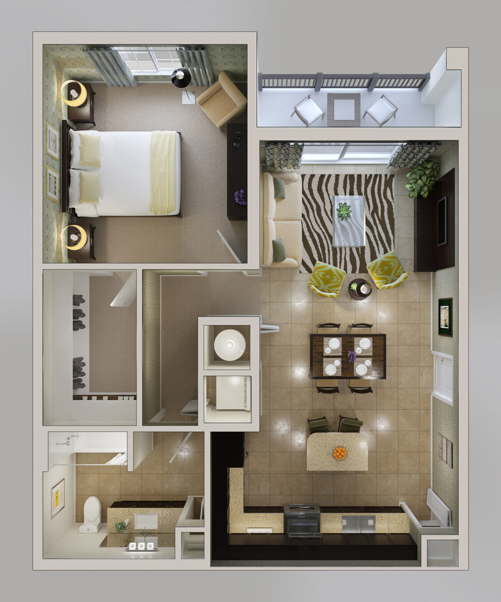 One Bedroom Apartments: Foundation Dezin & Decor...: Cost Efficient Plans & Layouts