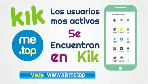 Los usuarios mas activos se encuentran en Kik