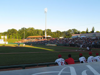 First pitch, Yankees vs. ValleyCats