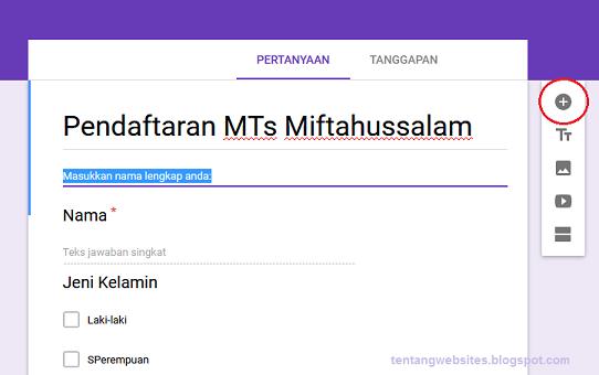 Cara membuat google form untuk formulir pendaftaran ...