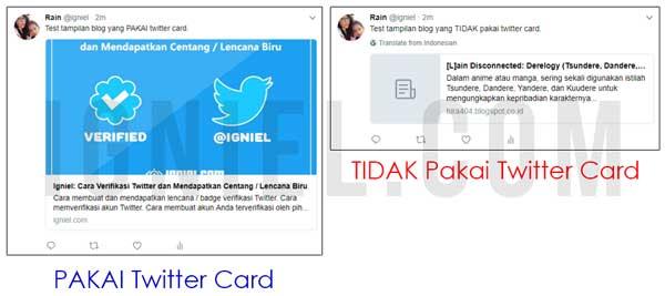 Cara Lengkap Memasang Meta Tag Twitter Card di Blogger