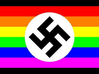 Image result for gay pride nazi flag