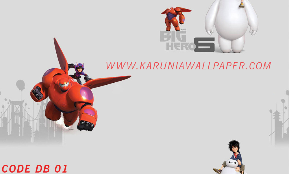 jual wallpaper dinding baymax disney karuniawallpaper