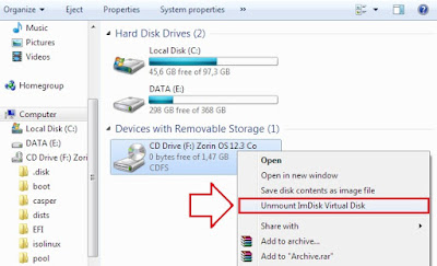 Unmount Virtual Disk