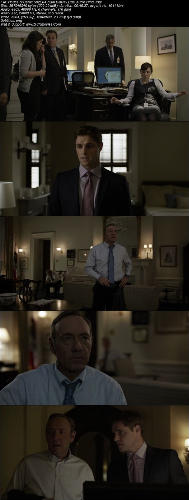 House of Cards Season 2 All Episodes Dual Audio Hindi 720p