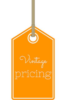 How should vintage items be priced?