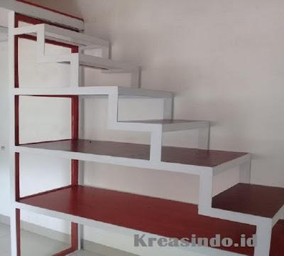 Harga tangga trap multiplek dan berfungsi buat rak