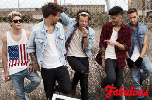 Los chicos para la revista  Fabulous Magazine  en la secci  243 n    One Direction Fabulous Magazine 2013 Tumblr