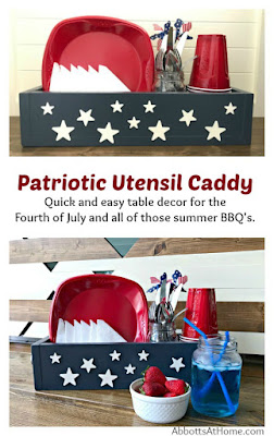 picnic utensil caddy