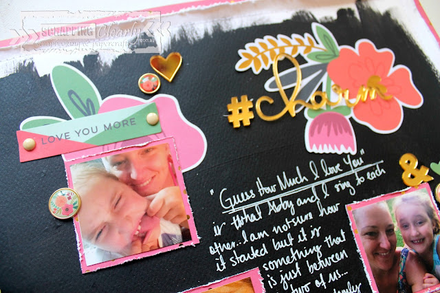 Sweet Charm layout by Bernii Miller for Scraping Clearly using the MME On Trend 2 collection.