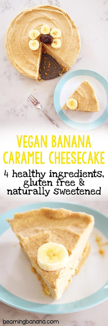 Vegan Banana Caramel Cheesecake