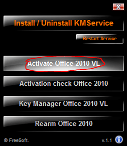 Activate Office 2010 by KMS