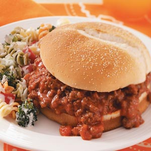 RecipeReview Easy Salsa Sloppy Joes - Source: Taste of Home