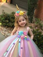 vestido para niña de unicornio