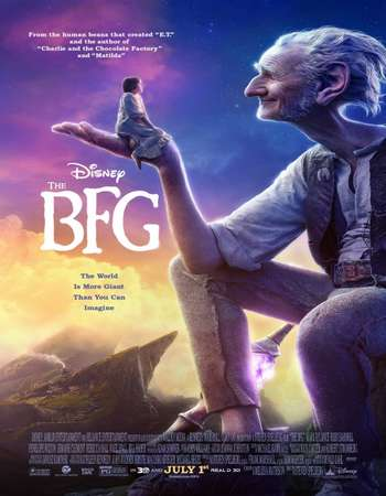 Poster Of The BFG 2016 English 500MB BRRip 720p ESubs HEVC Free Download Watch Online downloadhub.in